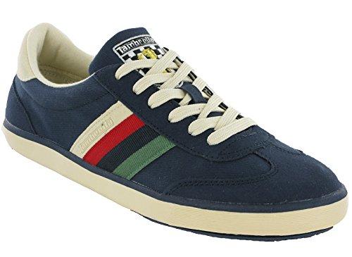 Lambretta Vulcan - Zapatillas De Lona Para Hombre, Color Blanco, Color Azul, Talla 42 2/3 Eu
