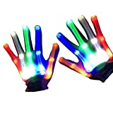 Guantes con Flash LED, Guantes de Esqueleto con LED Parpadeantes, Juguetes con...