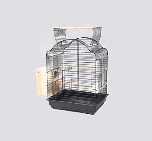 Space- rack Z-W-Dong Robuste Cages Parrot métal, Perruches calopsittes écureuil fenêtre Cages Afficher Birdcages- Top Peut être Ouvert Oiseaux/Cages à Oiseaux (Color : B, Size : 52 * 41 * 70CM)