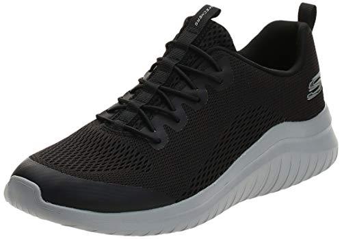 Skechers Ultra Flex 2.0-Kelmer, Zapatillas Hombre, Negro (BKGY Black Engineered Mesh/Synthetic/Gray Trim), 43 EU
