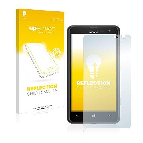 upscreen Entspiegelungs-Schutzfolie kompatibel mit Nokia Lumia 625 – Anti-Reflex Bildschirmschutz-Folie Matt