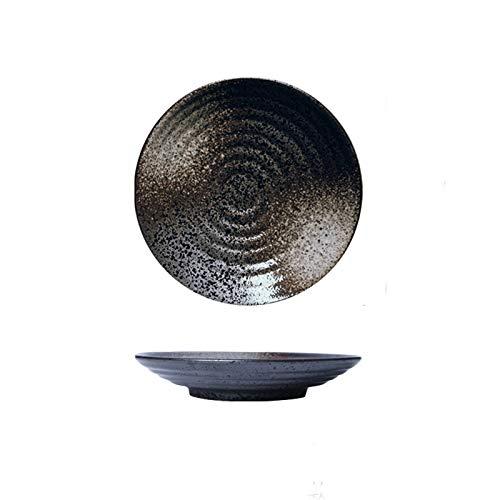 Platos llanos Plato de cena redondo para uso diario de la familia, placa de pasta simple placa de ensalada placa de bocadillo, placa de 6 pulgadas, microondas, horno y lavavajillas seguro Platos de c