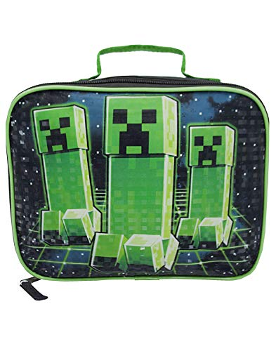 Vanilla Underground Minecraft Creeper Kids Lunch Box Contenedor de comida escolar Varios colores (One Size)