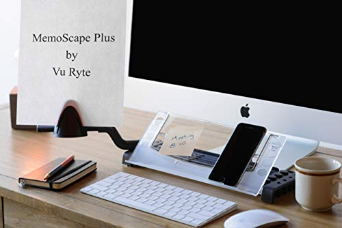 Vu Ryte Memoscape Document Copy Holder, Ergonomic Home Office Desk Organizer, In-Line with Monitor, Includes Side Arm Support, Black, VUR 2060, Available in Multiple Colors