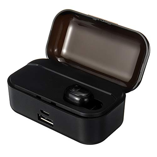 Ys-s Personalización de la Tienda Inalámbrico Bluetooth 5.0 Auricular 3500MAH Power Bank Impudent Toque Impermeable HiFi Auriculares con Caja de Carga (Color : Black)