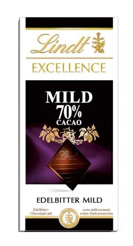 Lindt Excellence 70% Cacao milde Edelbitter-Schokolade (vegan, glutenfrei, laktosefrei) 1 x 100g