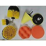 MALAT Power Scrubber Brush Set para brochas de baño, Akku-Aufsatzsatz Power Toilet Brush Elektroreinigung, 7-TLG