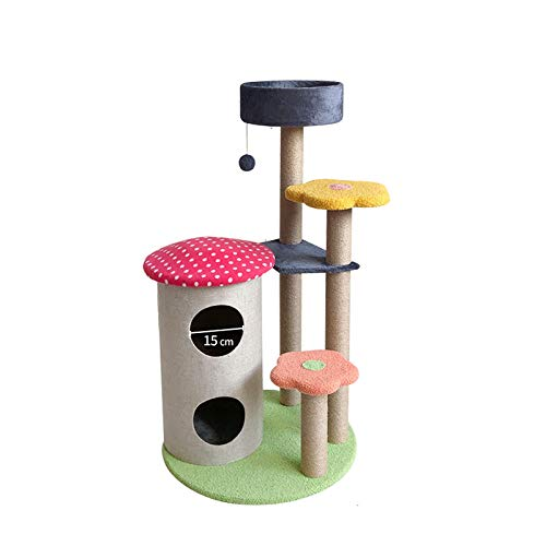 GAONAN Cati-Nivel Cat Tree Stand House Muebles Kittens Activity Tower con Posts Scratching Kitty Pey Play House Parque Infantil para Gatos (Color : B)