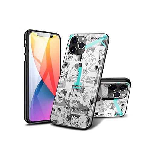 SviXXaYN iPhone 12 Pro MAX Funda, Parte Trasera de Cristal Templado + Funda Protectora de TPU de Silicona Suave, Compatible con iPhone 12 Pro MAX #003(C)