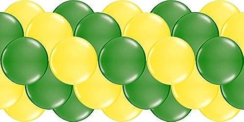 Luftballongirlande  Gelb & Grün  100 Meter - partydiscount24