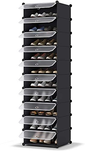 HOMIDEC Schuhregal, 10-stufiger Schuhschrank Kunststoff-Schuhregale Organizer für Schrank Flur Schlafzimmer Eingang