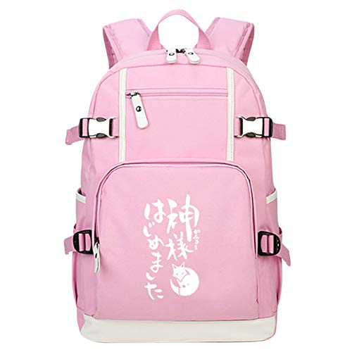 BESTHOO Kamisama Love Mochila de Anime Niños Mochilas Escolares Informales Bolsa de Viaje de Dibujos Animados Mochila for niños (Color : A01, Size : 30 X 15 X 43cm)