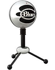 Blue Microphones Blue Snowball - Micrófono USB con dos patrones de captación versátiles y diseño óptimo y retro para grabación, transmisión y podcasting en PC y Mac, color Plata