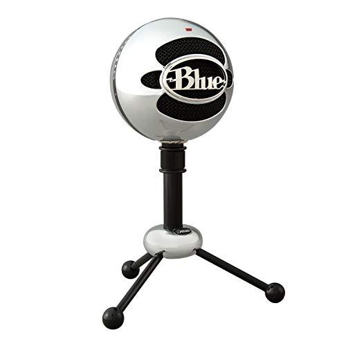 Blue Microphones Snowball - Micrófono USB con dos patrones de captación versátiles y diseño óptimo y retro para grabación, transmisión y podcasting en PC y Mac, color Plata (Versión de alumini