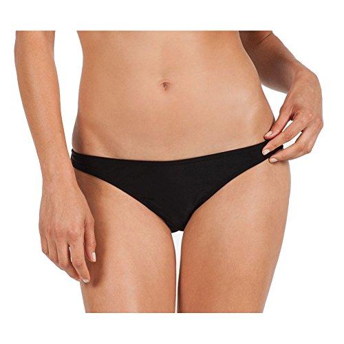 Volcom Women's Simply Solid Full Bikini Bottom, Black, X-Large