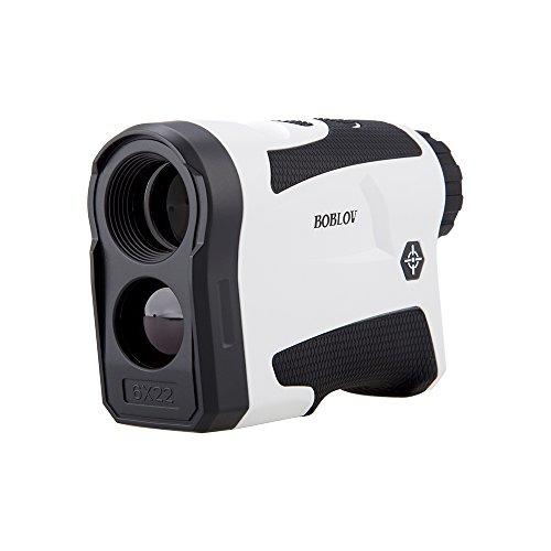 BOBLOV LF600G Télémètre de Golf Range Finder Étanche 600 M 6X LCD Mesure de Distance Mesure de Vitesse Cible de Verrouillage(Blanc)