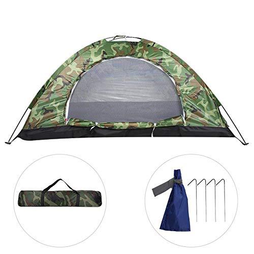 Cocoarm Campingzelt Tragbare Outdoor Camping Zelt für 2 Personen Wasserdicht UV Schutz Klappzelte mit Tragetasche Kuppelzelte für Reise Trekking Outdoor Festival