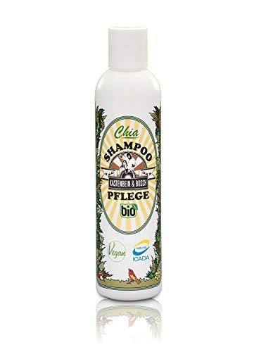 Bio Chia Pflegeshampoo - Vegan, glycerin- & laktosefrei mit 18 natürlichen Inhaltsstoffen wie Arganöl & Chiaextrakt - Haarpflege 200ml von Kastenbein & Bosch