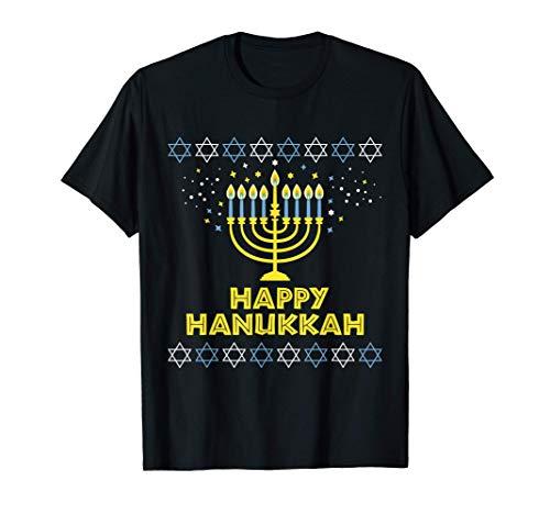 Happy Hanukkah Boys Girls Men Women Gift Fun T-Shirt