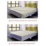 Verstellbare Bettlakenspanner, 8 Stück Elastische Bettlakenspanner, Weiß Betttuchspanner, Lakenspanner mit Metallclips, für Bettlaken, Matratze, Bügelbrett Oder Sofa - 3