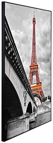Ecowelle Infrarotheizung mit Bild | 900 Watt | 100x60x2cm | Infrarot Heizung| | Made in Germany | d 30 Eiffelturm