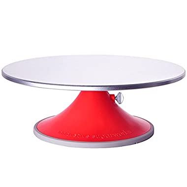 Innovative Sugarworks Artists Cake Turntable Rotating Cake Stand Cake Decorating Stand, with Brake/Stop