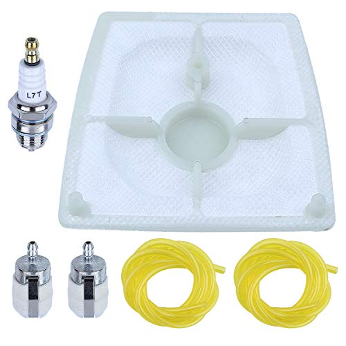 Adefol Limpiador de Filtro de Aire para Motosierra Stihl 041 041AV 041G Super Farmboss Repuestos con 1110120 1601 Manguera de línea de Combustible Bujía