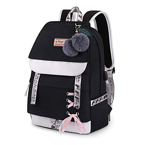 Asge Backpack for Girls Kids Schoolbag Children Bookbag Women Casual Daypack