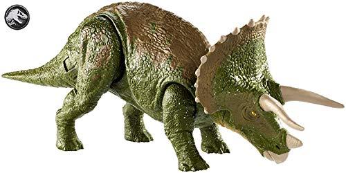 Jurassic World - Mega Ataque Extremo de Triceratops, Dinosaurio de Juguete (Mattel GDT42)