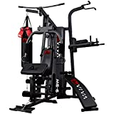 AsVIVA Kraftstation MG6 Pro 50in1 90kg Box- Kampfsport Multi-Gym inkl. Dip-Station, Bauchtrainer und...