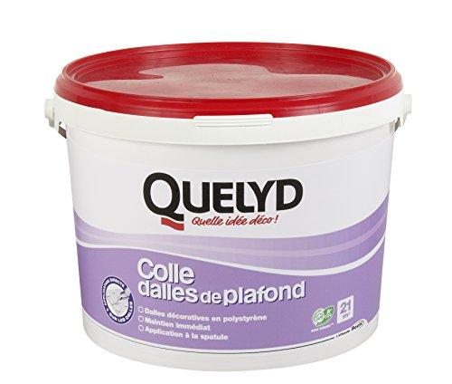 Quelyd Colle Dalles de Plafond - Mastic en pâte - Seau de 7 KG