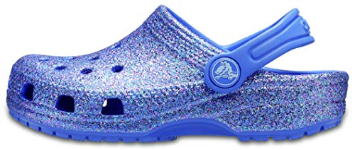 Crocs Classic Glitter Clog Kids, Obstrucción Unisex Niños, Lapislázuli, 22 EU-23 EU