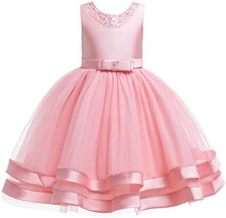 Glamulice New Year Pink Flower Girl Dresses Ruffles Vintage Embroidered Sequins Lace Wedding product image