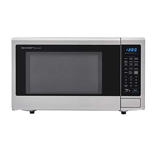 Sharp SMC1842CS Carousel Electronic Digital 1100 Watt 1.8 Cubic Foot Stainless Steel Countertop Microwave Oven (Renewed)