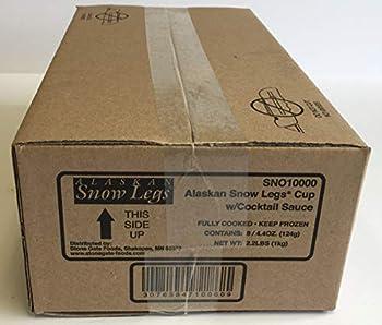 Stone Gate Foods Imitation Alaskan Snow Crab Leg 4.4 Ounce Cup -- 8 per case.