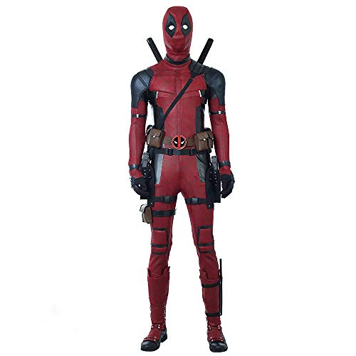 Lydia's Anime Vestiti Cosplay Deadpool Cosplay Costume Film Versione 3D Digital Printing Gun Copricapo Stretto Natale Halloween Fancy Dress per l'Abbigliamento per Adulti with Shoes-Man-XXS