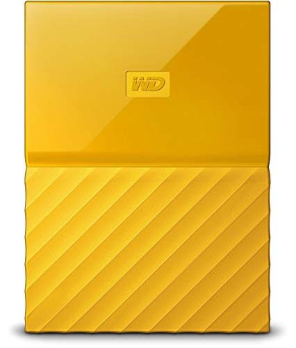 WD My Passport 3 TB disco rigido portatile e software di backup automatico giallo