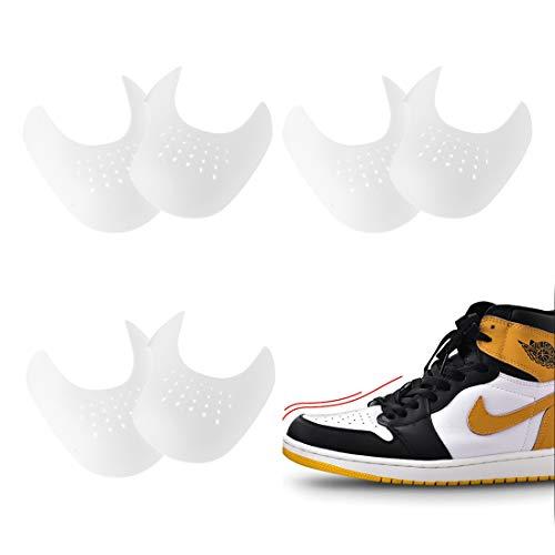 3 Paar Anti Falten Schuhe Schutz, Verhindern Turnschuhe Schuhe Falte Vertiefung, Gegen Schuhknicke, Zehe Box Schilde, Schuhfaltenverhinderer für Herren Größe UK 7-13 / EU 40-46