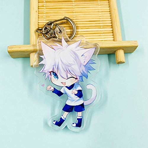 Iwinna Anime Hunter X Hunter Keychain Props Key Ring Toy, Anime Merchandise(Multicolor(style13))