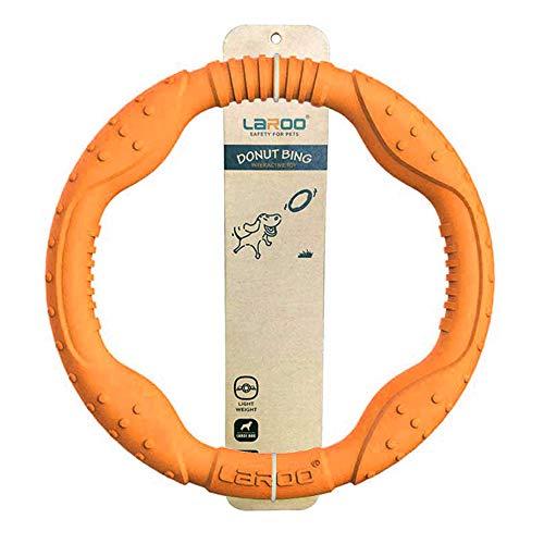 LaRoo Hundefrisbee Große Dog Frisbee Hundespielzeug Wasser schwimmend, Outdoor Fitness Flying Ring, Tauziehen Interaktive Trainingsring für mittlere und große Hunde. (Orange 30 cm)