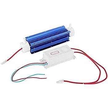 TOOGOO Generador de Ozono 10G Ozonizador Ionizador Tubo Purificador de Aire Tubo de Cuarzo + Fuente de AlimentacióN ...