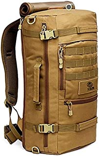 [Brown]Outdoor Sport Camping Hiking Trekking Bag Military Tactical Shoulder Bag
