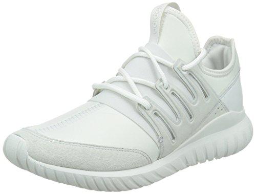 adidas Unisex-Erwachsene Tubular Radial Hohe Sneakers, Weiß (Crystal White/Crystal White/Crystal White), 42 EU