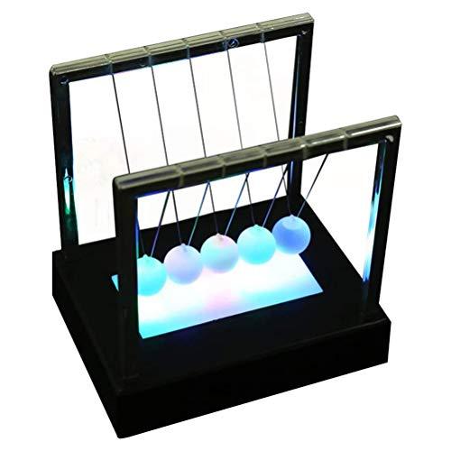 Fovely Newton Cradle Balance Balls , Leuchten Newton Cradle Balance Balls Schreibtisch Spielzeug Wissenschaft Physik Psychologie Pädagogische Kits Home Office Dekoration