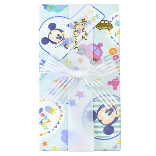 ご祝儀袋 ガーゼ ハンカチ 金封 Disney ディズニー 日本製 お祝 出産祝い 布製 綿 柔らか 赤ちゃん ベビー カラフル かわいい キャラクター プレゼント ギフト