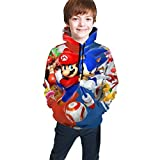 Narpult Sonic The Hedgehog Kids' Soft Hooded Sweatshirt Hoodie for Boys Or Girls NO.1-7-8 Years