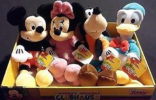 Inspire Dream Play 4pc Set Disney Mickey Mouse Minnie Goofy Donald Soft Bean Bag Plush Toys Display