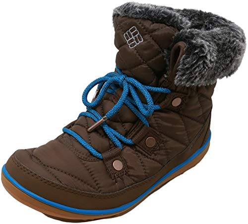 Columbia Women's Heavenly Shorty Omni-Heat Snow Boot, Espresso MHW, deep Ocean, 10.5
