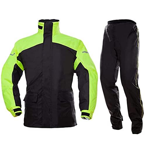 BHBXZZDB Waterproof Fishing Rain Suit for Men (Rain Gear Jacket & Trouser Suit) Raincoat for Bike Cycling Motorcycle Walking Work(Size:XLarge)