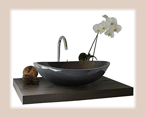 Waschbecken aus Naturstein, Granit, Model Monaco 45cm, anthrazit, G654